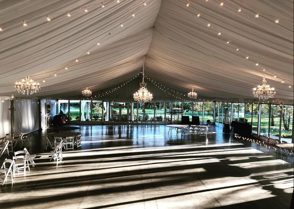 The Abbey Tent Chandeliers