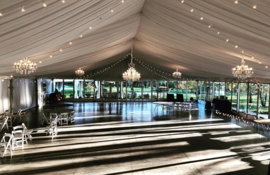 Chance Productions - The Abbey Resort - Lake Geneva, WI wedding, rental, chandeliers, tent