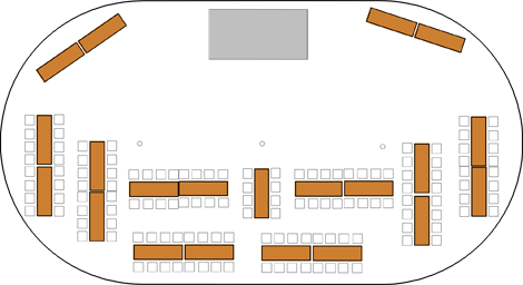sample 46x86 tent layout