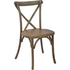 Wood Crossback Farm French CountryWedding Event Party Chair